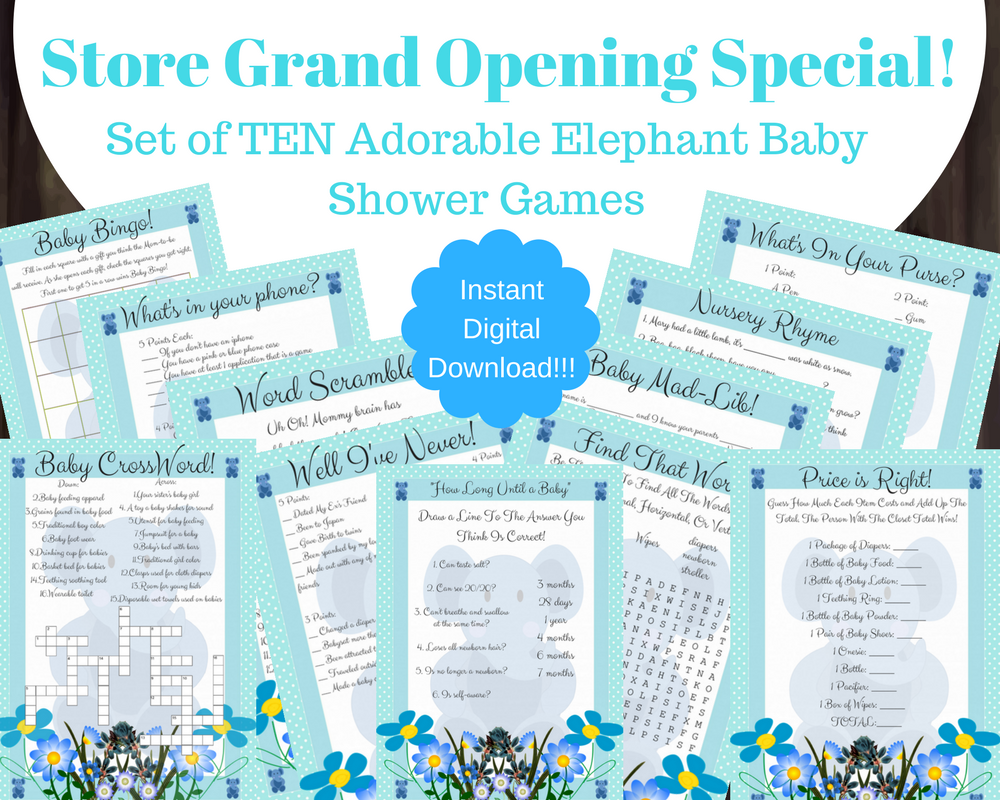 Zany image regarding 75 printable baby shower games with answers
