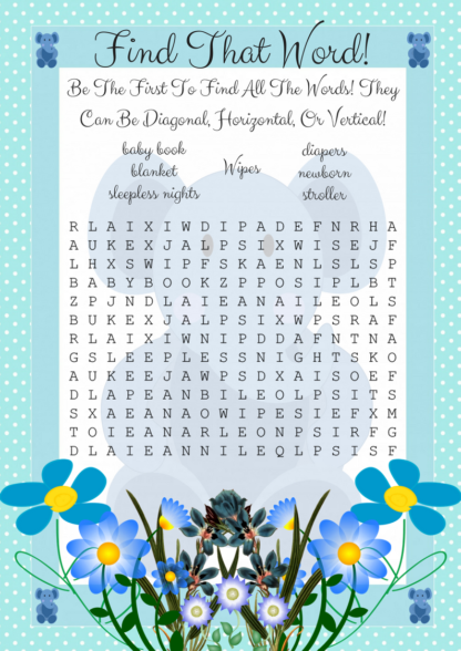 Blue Elephant Find That Word Game Image
