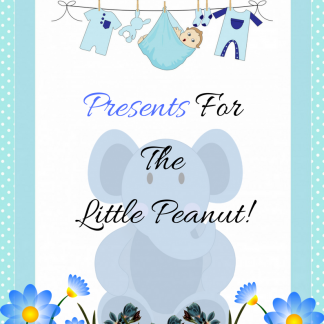 Blue Elephant Presents For The Little Peanut Decoration Sign