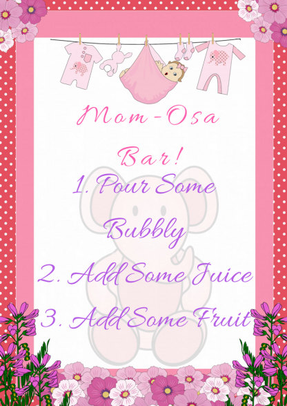 Pink Ele Mom-Osa Bar Sign