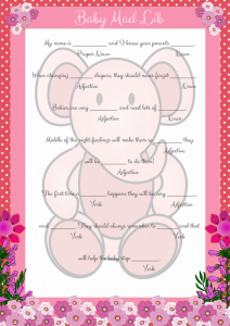 Pink Elephant Baby Mad Lib Game Printable