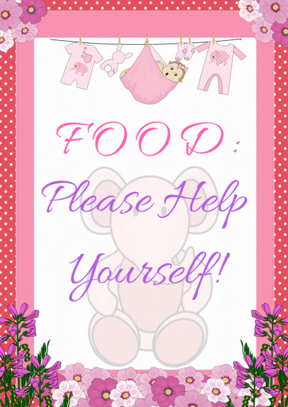 Pink Ellephant Food Sign