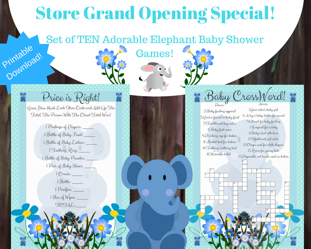 10 Cute Elephant Baby Shower Games For A Boy